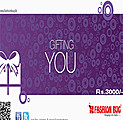 Rs 3,000 Fashion Bug Gift Voucher at Kapruka Online
